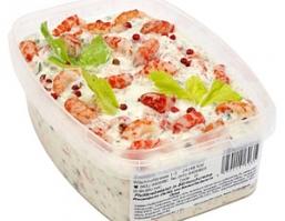 Salate mit Flußkrebsfleisch