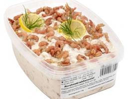 Salate mit Nordseekrabben